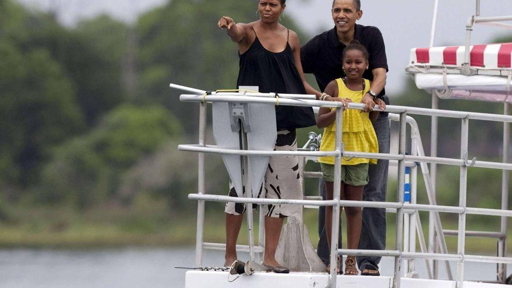 Foto: Michelle Obama en una foto veraniega de archivo. (Getty)