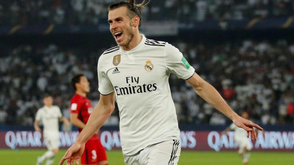 Foto: Gareth Bale celebra un gol en el partido contra el Kashima del Mundial de clubes. (Efe)
