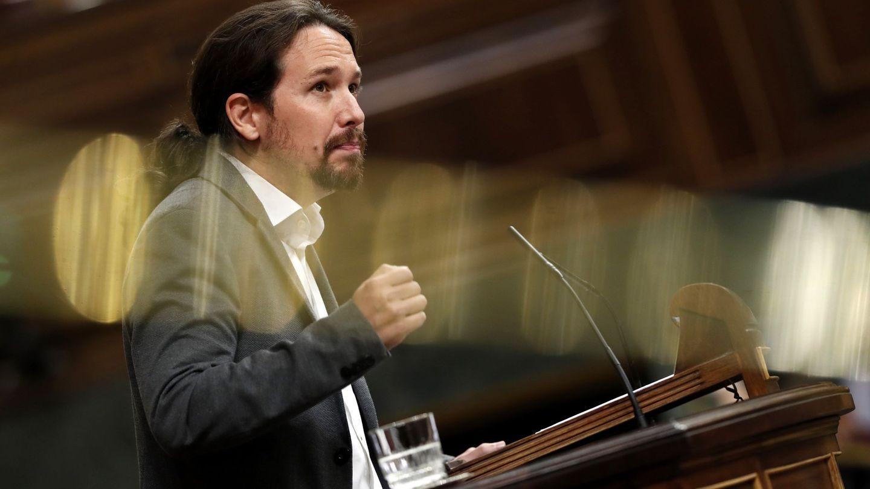 Pablo Iglesias en el Congreso. (EFE/Javier Lizón)