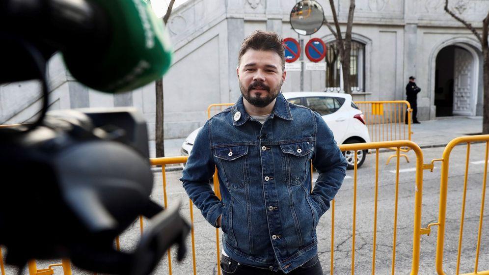 Foto: El diputado de ERC Gabriel Rufián. (EFE)