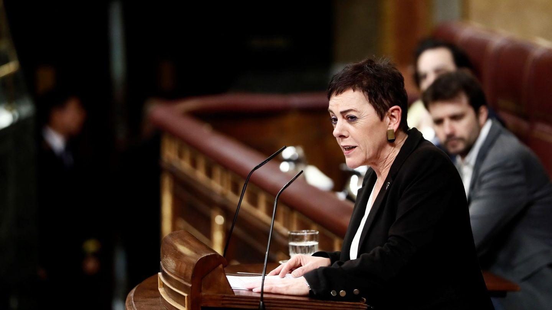 La portavoz de EH Bildu en el Congreso, Mertxe Aizpurua, interviene durante la segunda jornada del debate. (EFE)