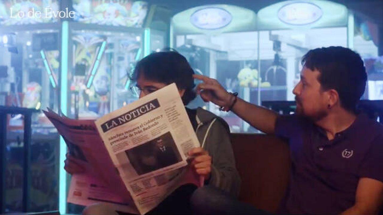 Jordi Évole y Pablo Iglesias, en la nueva promo de 'Lo de Évole'. (La Sexta)