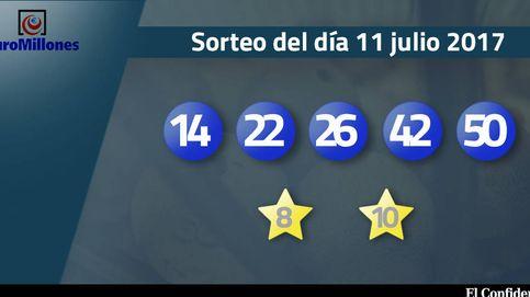 Resultados del sorteo del Euromillones del 11 de julio de 2017: números 14, 22, 26, 42 y 50