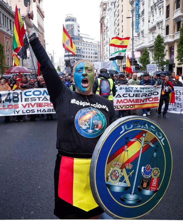 Foto: Una de las manifestaciones convocadas por Jusapol en Madrid. (EFE)