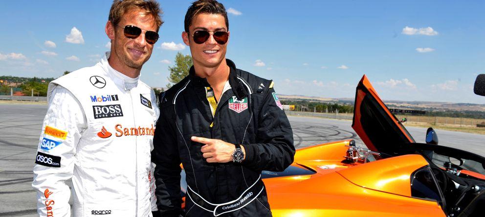 Foto: Ronaldo compartió la mañana con Jenson Button (Foto: Globally)