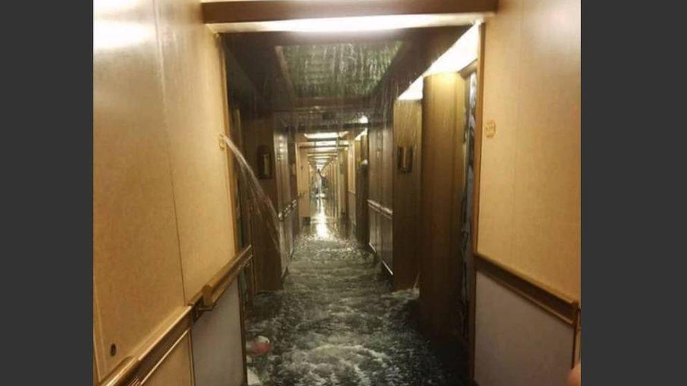 Pesadilla en el Caribe: una inundación en un crucero hace revivir el Titanic