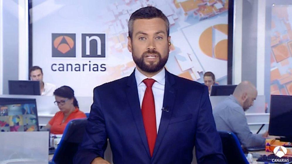 Foto: Jazael Ascanio, en 'Antena 3 Noticias Canarias'. (Antena 3)