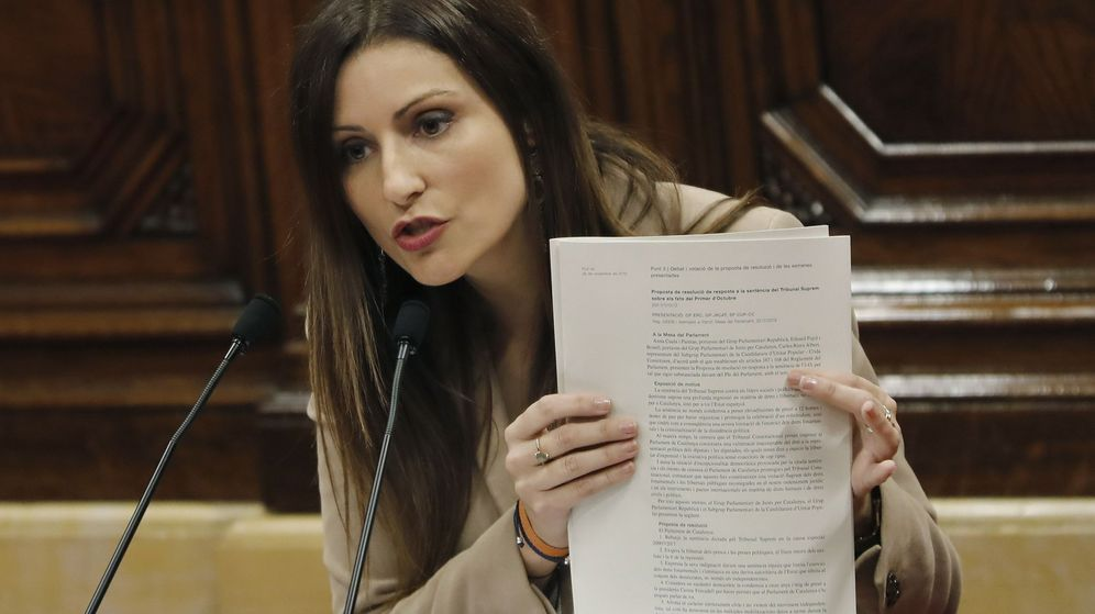 Foto: La portavoz de Ciudadanos en el Parlamento catalán, Lorena Roldán. (EFE)