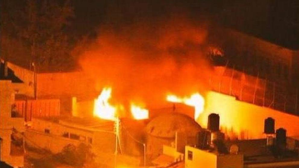 Vídeo: Jóvenes palestinos incendian la sagrada tumba judía de José en Nablus