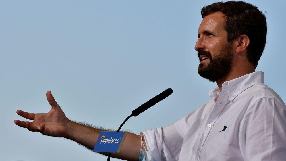 Foto: El líder del Partido Popular, Pablo Casado, en Almería. (EFE)