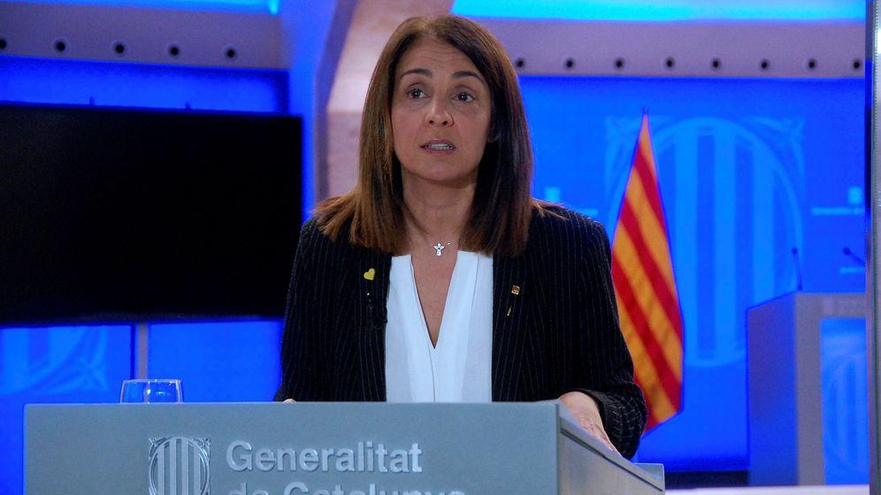 Foto: Fotografía facilitada por la Generalitat de Cataluña, de una comparecencia de la 'consellera' Meritxell Budó. (EFE)