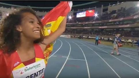 María Vicente, campeona del mundo juvenil de heptatlón