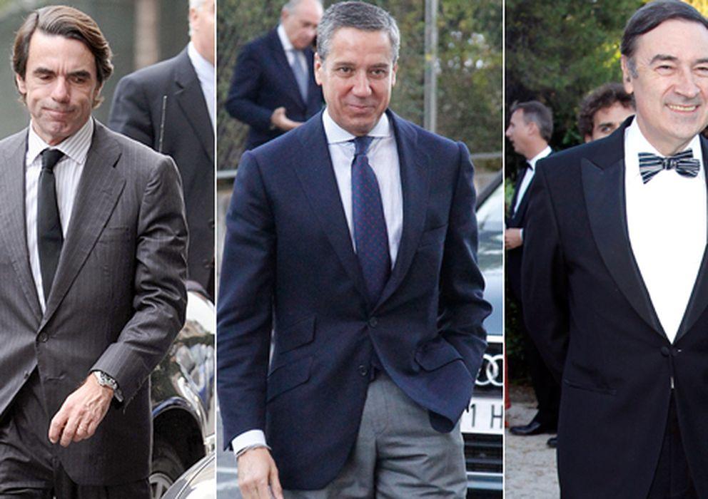 Foto: Felipe González, José María Aznar, Eduardo Zaplana, Pedro J. Ramírez y Jaime de Marichalar (Gtres)