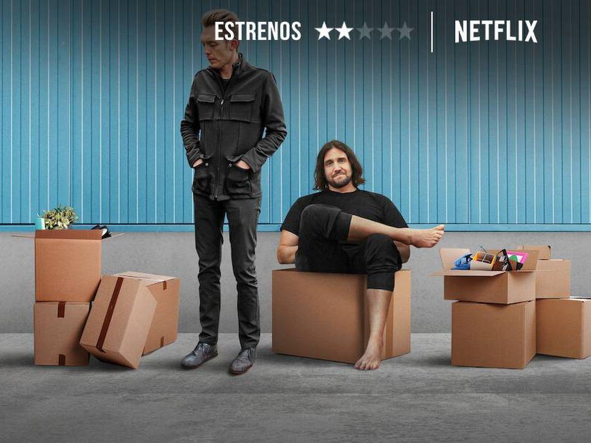 Foto: Joshua Fields Millburn y Ryan Nicodemus son The Minimalists. (Netflix)