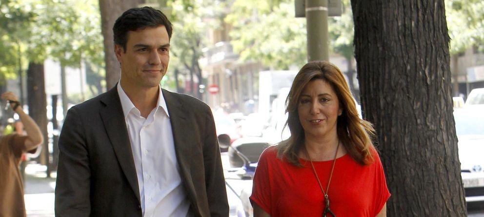 Foto: Sánchez y Díaz durante la reunión que tuvieron en Madrid hace unos meses (EFE)