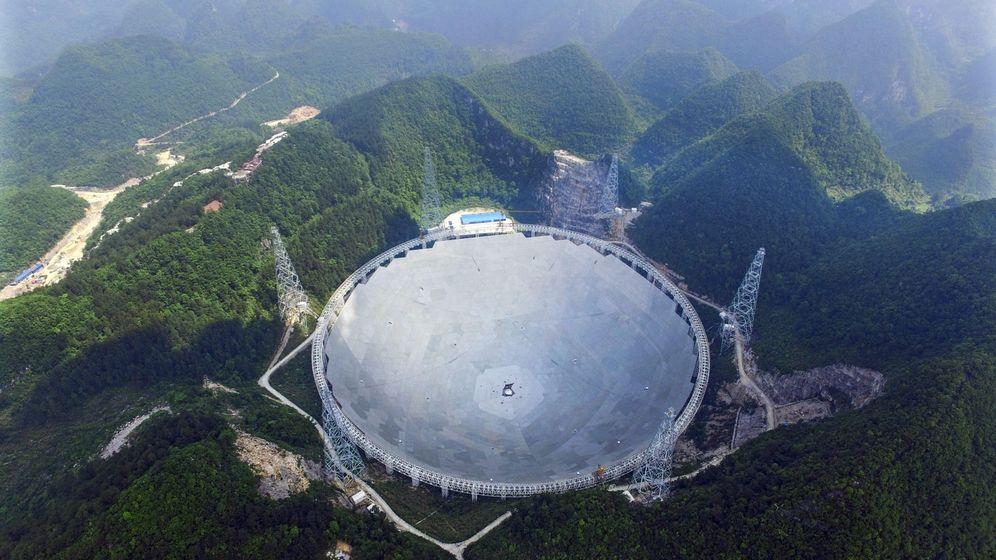 Foto: Telescopio FAST de China. Foto: EFE