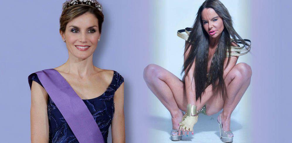 Foto: La Reina Letizia y Leticia Sabater en un fotomontaje realizado en Vanitatis.