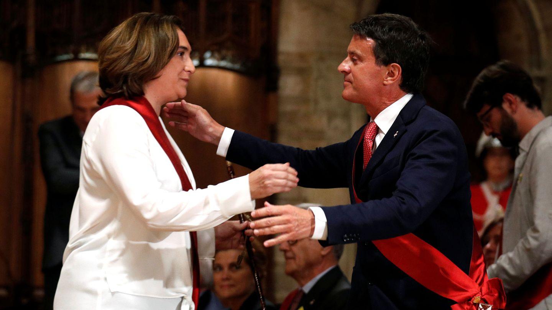 Ada Colau y Manuel Valls, que han respaldado una propuesta favorable a la cocapitalidad de Madrid y Barcelona. (EFE)
