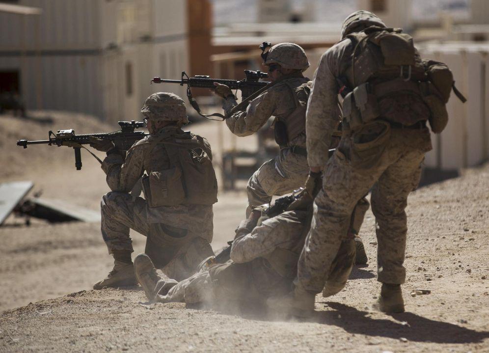 Foto: Marines estadounidenses durante un entrenamiento en California, septiembre de 2015 (Reuters)