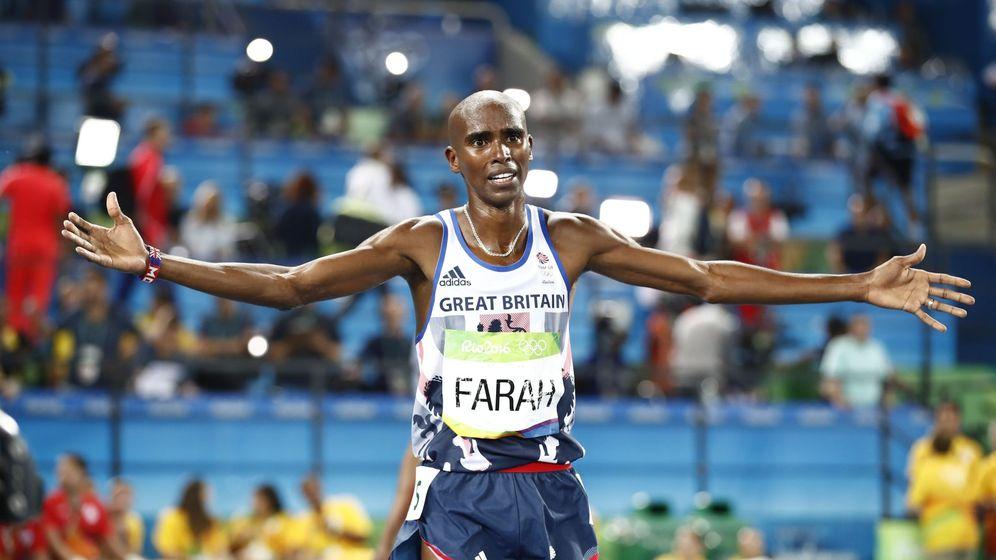 Foto: Farah ganó el oro en 5.000 y 10.000 en los Juegos de Río de Janeiro (Diego Azubel/EFE-EPA)