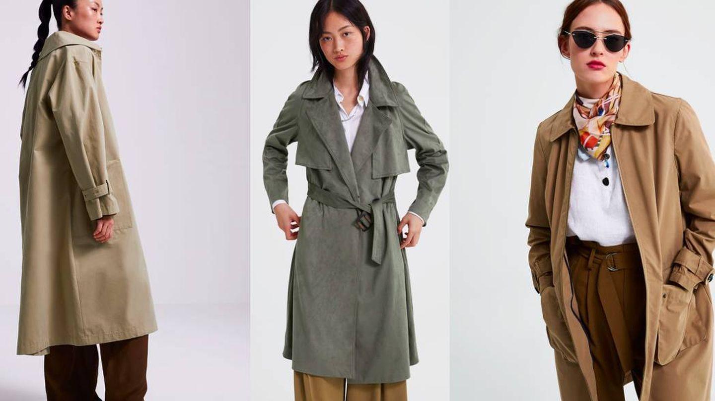 Estas son las tres nuevas gabardinas que nos propone Zara. (Cortesía)