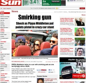 Pippa Middleton involucrada en un asunto de armas durante su viaje a París