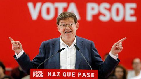 Ximo Puig logra la primera victoria desde 1991 y aguanta la presidencia por la mínima