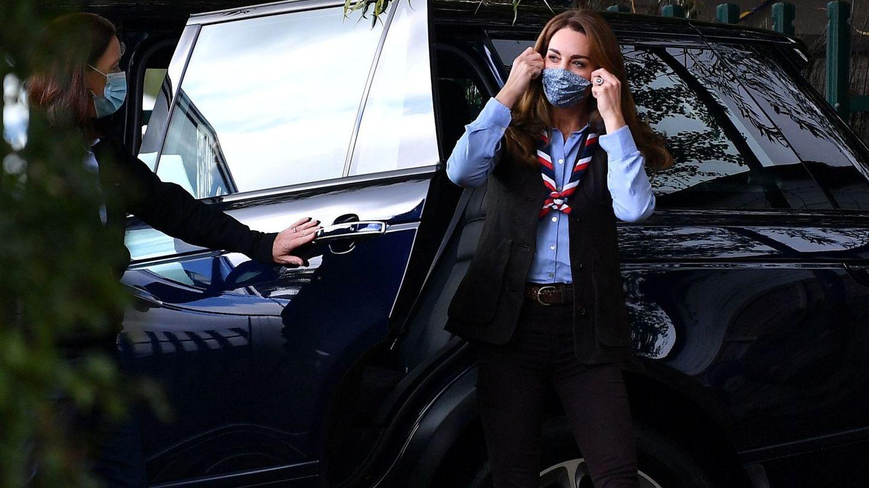 Kate, con su mascarilla. (Reuters)