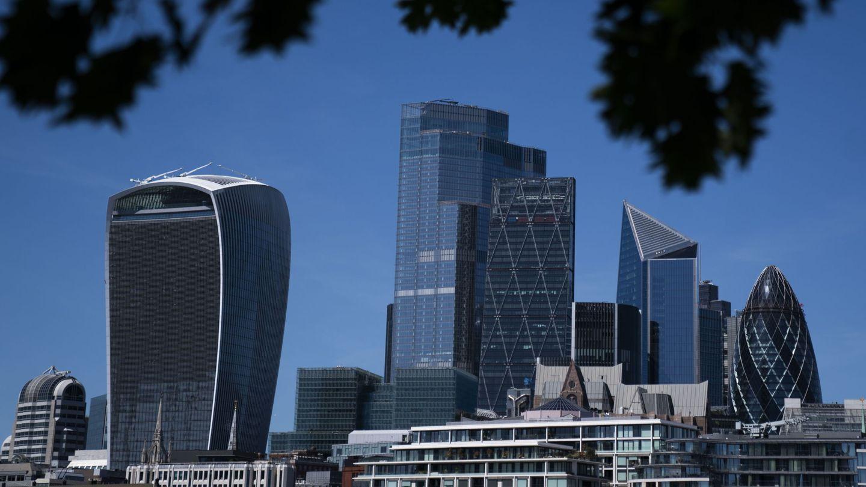 Vista de la City londinense durante la crisis del covid. (Reuters)