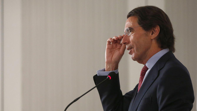 Foto: El expresidente del Gobierno, José María Aznar, ha felicitado a Mariano Rajoy por los resultados. (EFE)
