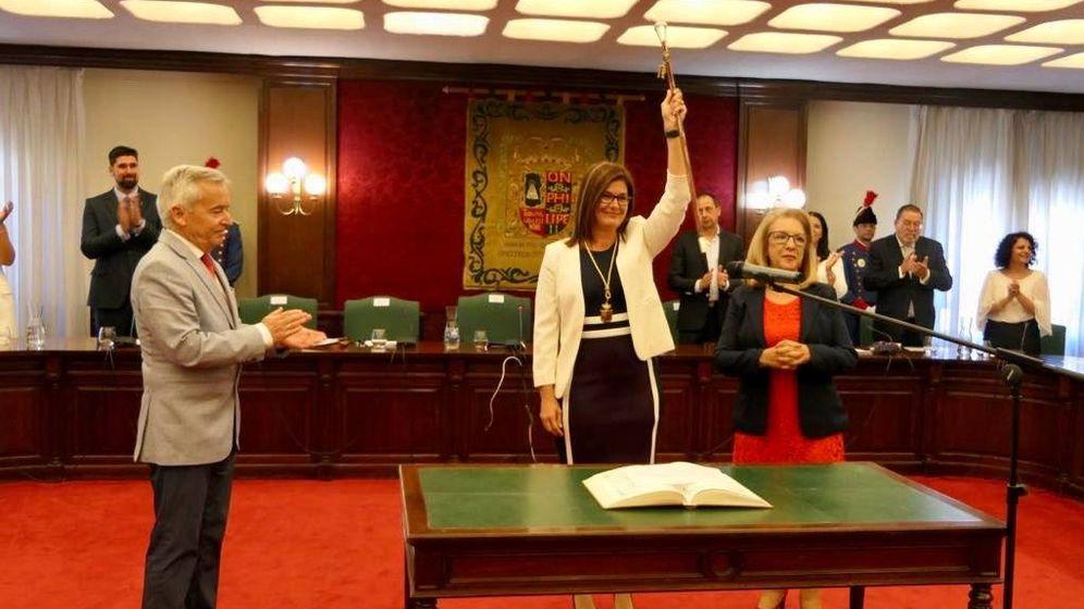 Foto: Noelia Posse, cuando tomó posesión como alcaldesa de Móstoles en junio de este año. (EC)