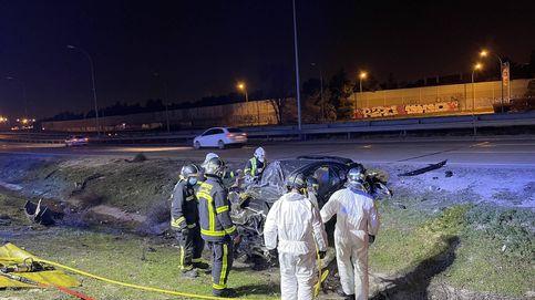 Muere un conductor y su acompañante resulta herida en un accidente en la M50 en Getafe
