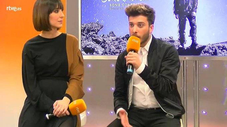 Blas Cantó, en la rueda de prensa. (TVE)