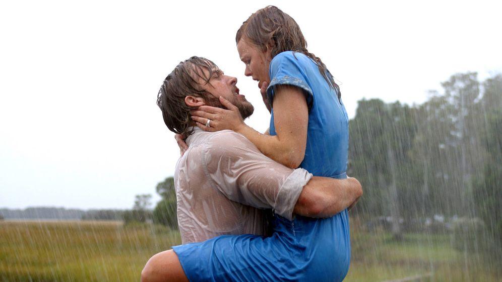 Foto: Ryan Gosling y Rachel McAdams, dos famosos ex, en 'The Notebook'.