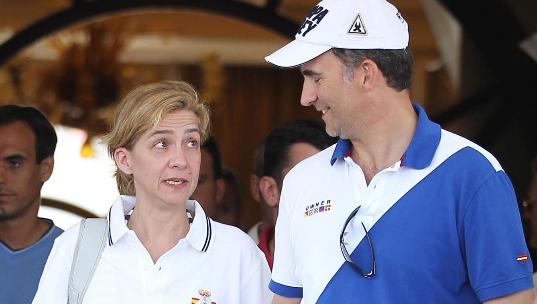 Foto: El Rey Felipe VI y su hermana Cristina (Gtres)