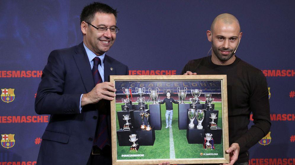 Foto: Mascherano, en su despedida. (Reuters)