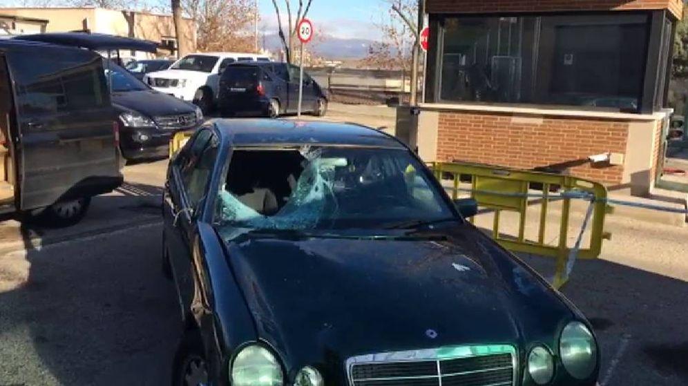 Foto: Imagen del coche que conducía Francisco cuando atropelló mortalmente a Alejandra. (ATLAS)