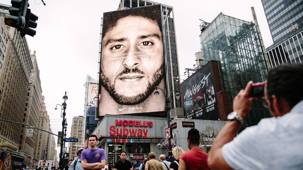 Foto: El nuevo anuncio de Nike en Nueva York. (EFE)