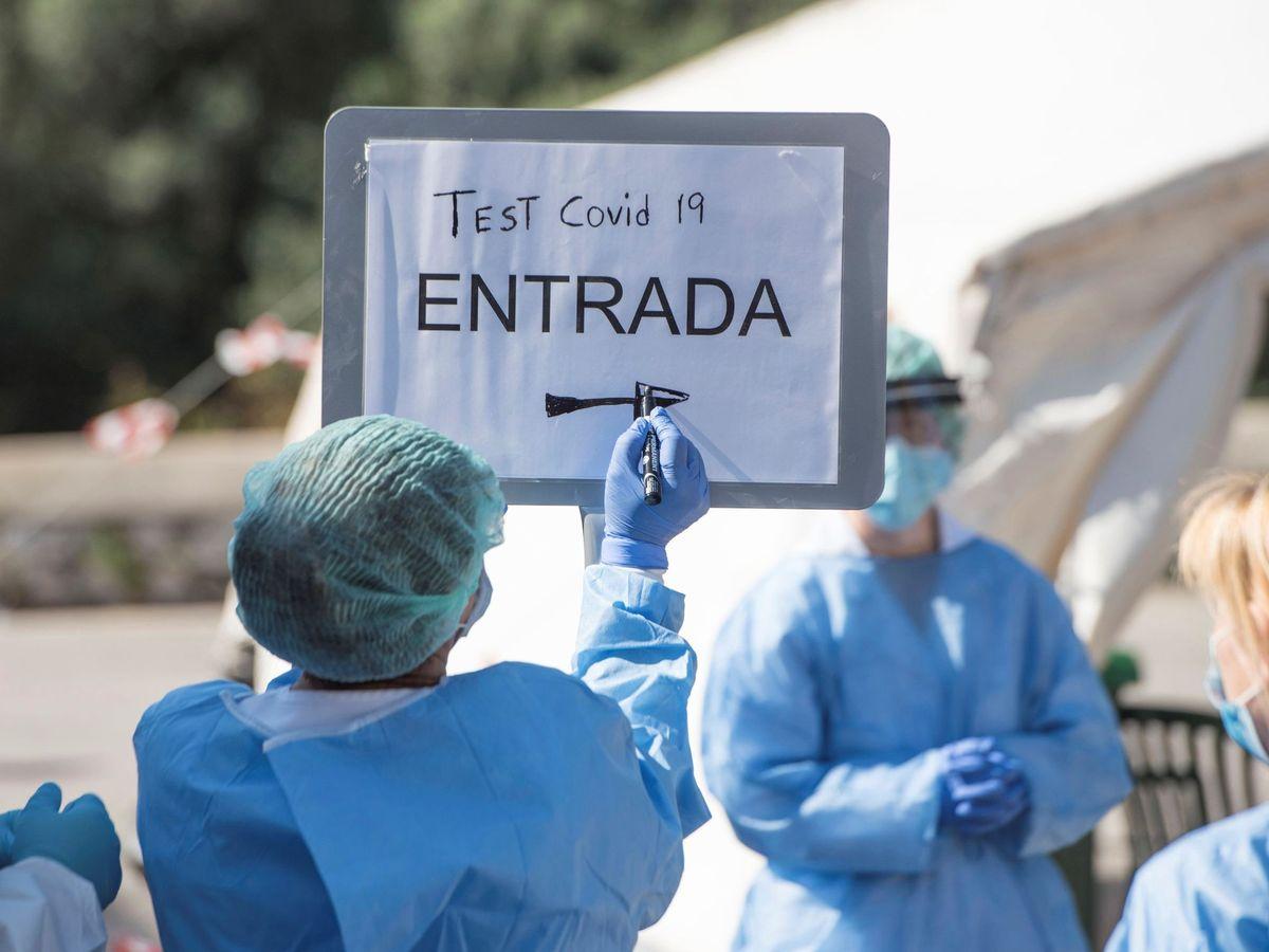 Foto: Test rápidos para identificar el Covid-19 en Menorca (EFE).