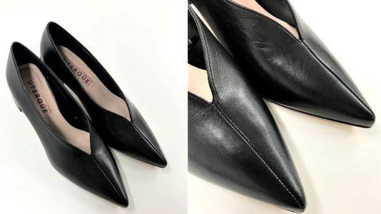Los zapatos de Uterqüe de Letizia. (Cortesía)