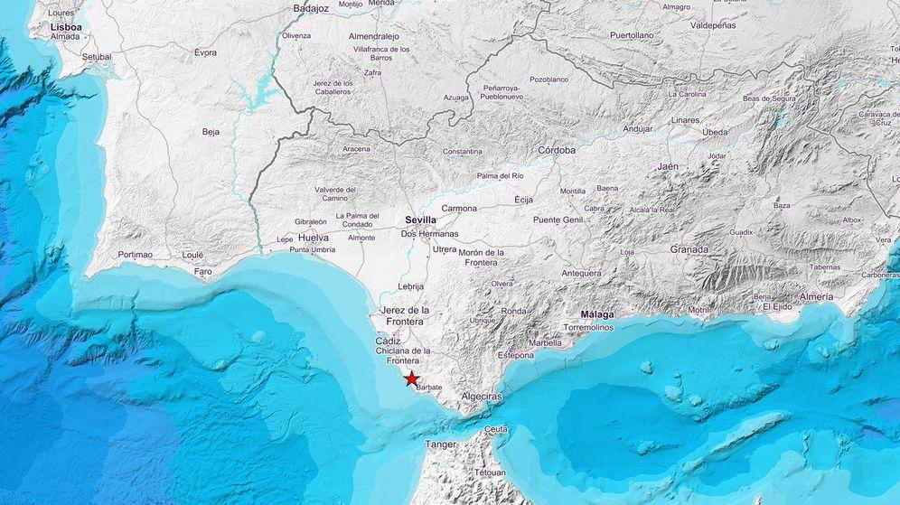 Foto: El epicentro del terremoto se sitúa al noreste de Conil de la Frontera. (IGN)