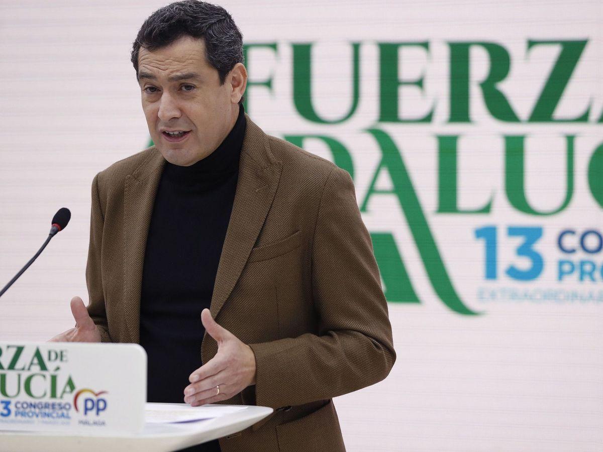 Foto: El presidente de la Junta de Andalucía y del PP andaluz, Juanma Moreno. (EFE)