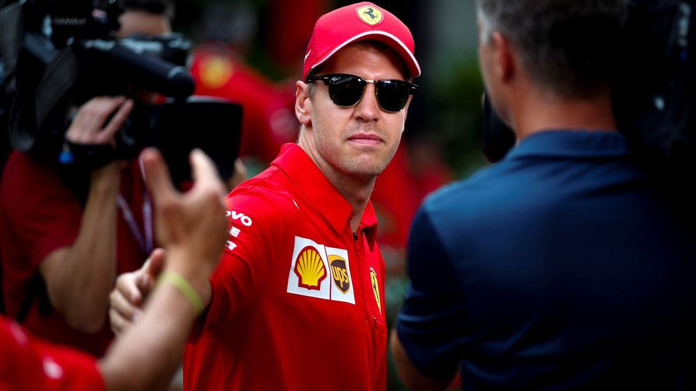 Foto: Sebastian Vettel reconoce que no puede exprimir el SF90 con total confianza, cuando este fin de semana se enfrenta a una de las pistas más duras del calendario (EFE)