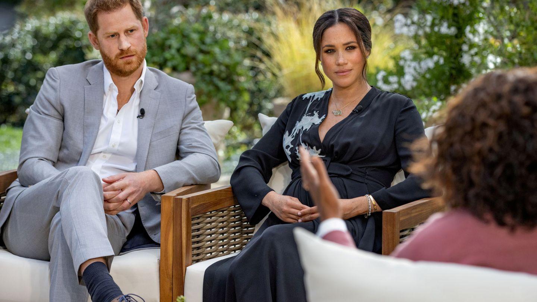 Meghan Markle en la entrevista de Oprah. (REUTERS)