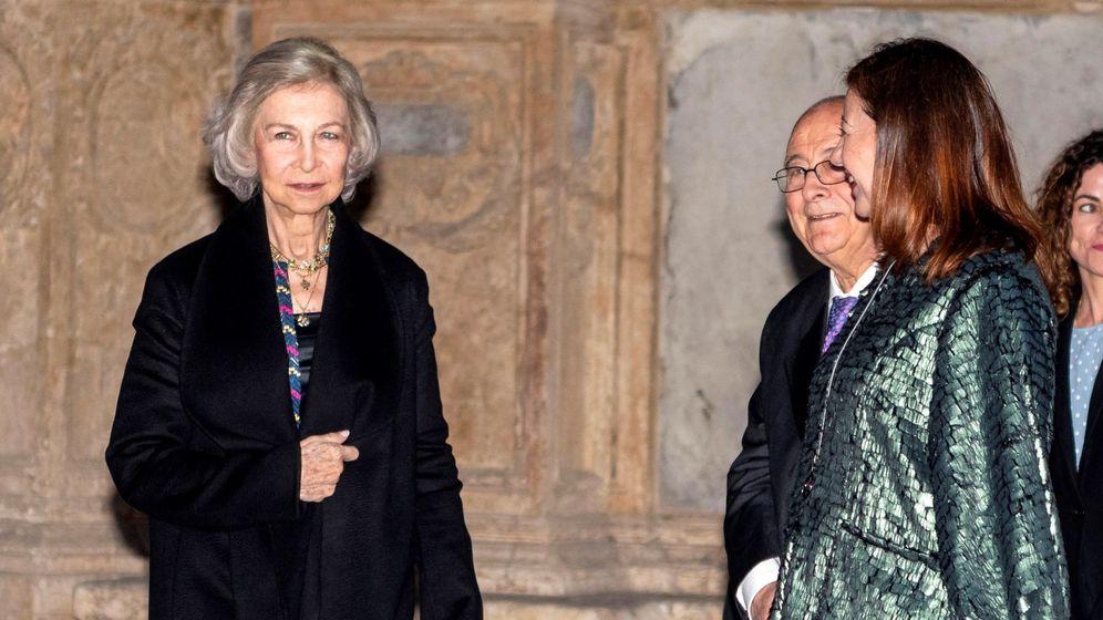 Foto: La reina Sofía, la noche del lunes en Palma. (EFE)