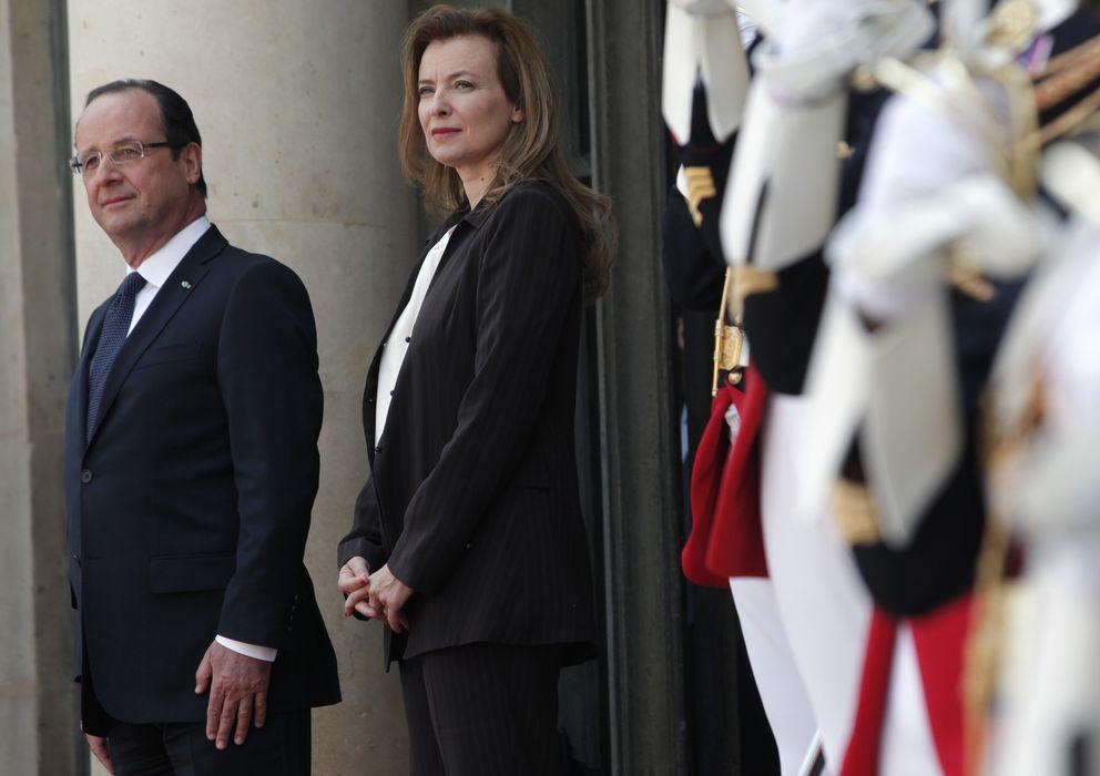 Foto: Hollande y su pareja, en una fotografía de archivo (I. C)