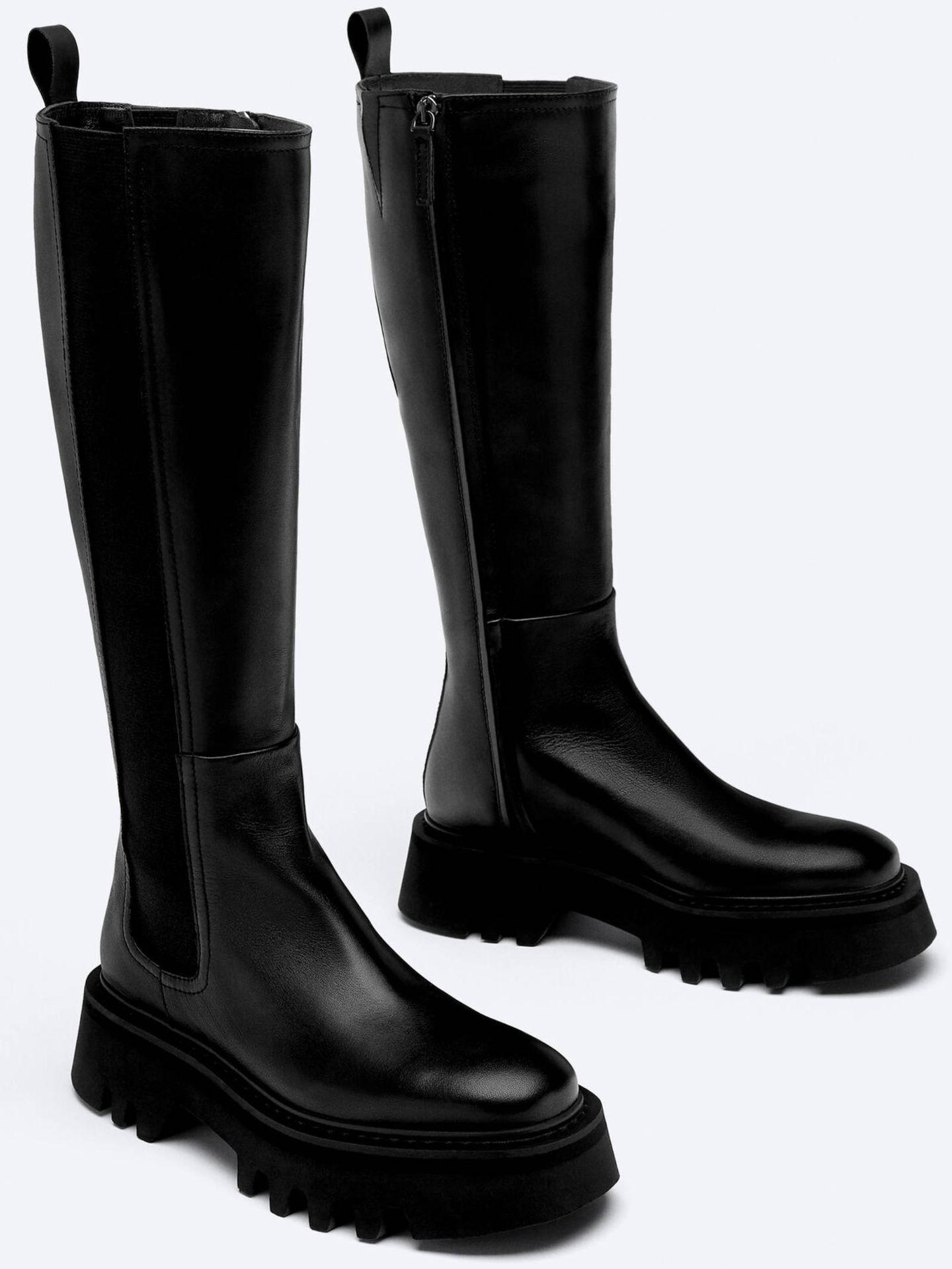 Botas de Uterqüe, perfectas para cualquier ocasión. (Cortesía)