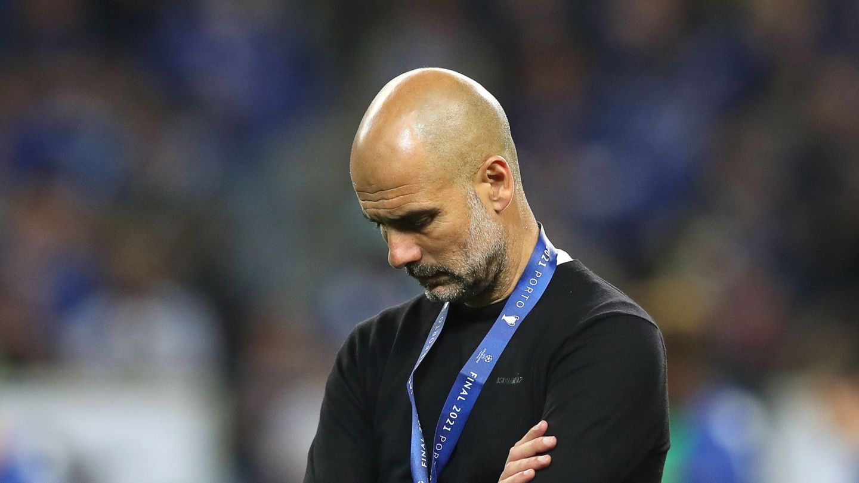 Guardiola, tras perder la final de la Champions. (Reuters)