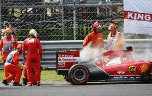 Alonso, molesto y triste en un fin de semana desastroso para Ferrari