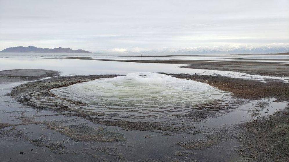 Foto: Un lago salado de Utah puede tener la respuesta a si hay vida en Marte. (Servicio Geológico de Utah)